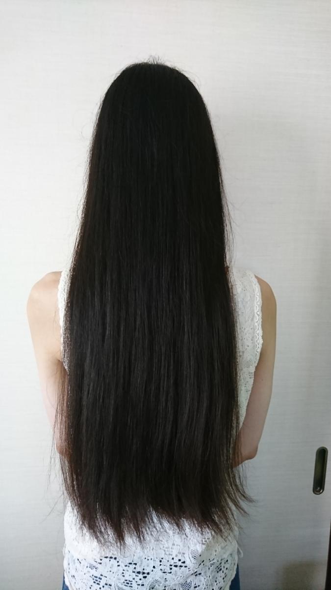 髪の毛 長さ50cm 重さ196g 20代 日本人 人毛 髪束