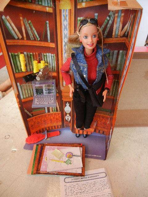 1990年製ディテクティブ探偵バービー人形未使用箱あり 検マテル Barbie90s Vintage Doll MATTEL レトロ