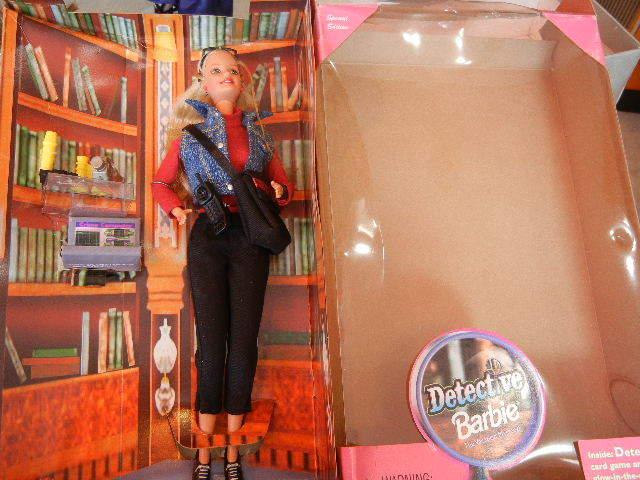 1990年製ディテクティブ探偵バービー人形未使用箱あり 検マテル Barbie90s Vintage Doll MATTEL レトロ _画像3