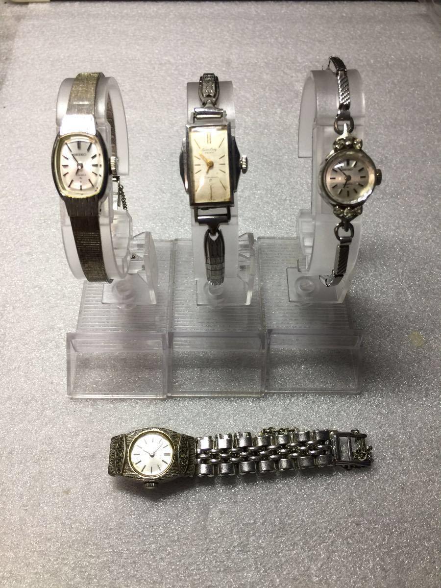美品 腕時計 セイコー アンティーク 手巻き レディース 4点セットです。稼働ok_画像1