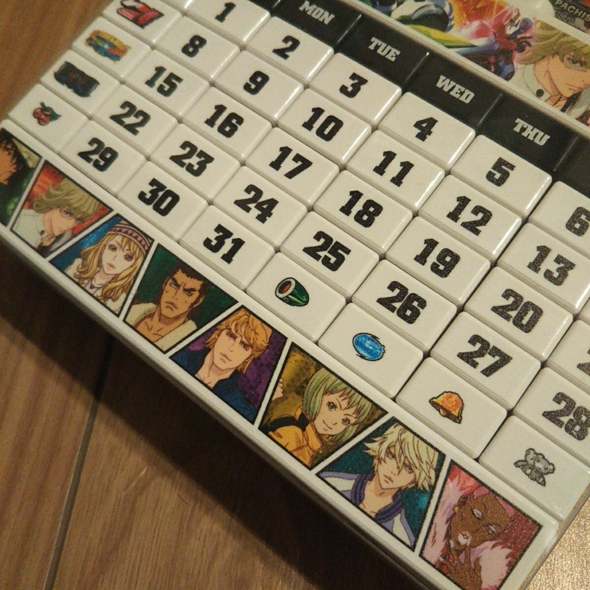 タイガー&バニー オリジナルブロックカレンダー 非売品 TIGER&BUNNY タイバニ 懸賞当選品 パチスロ_画像5