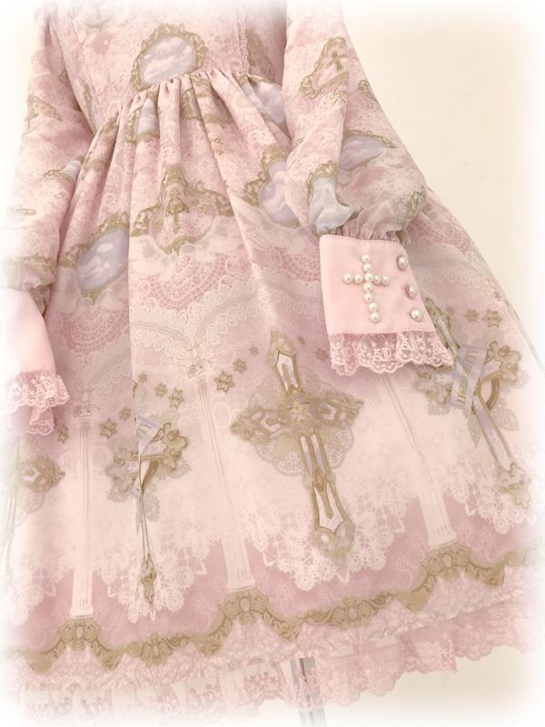 Angelic Pretty■Celestial ペプラム付きワンピース+ヴェールカチュ■ピンク