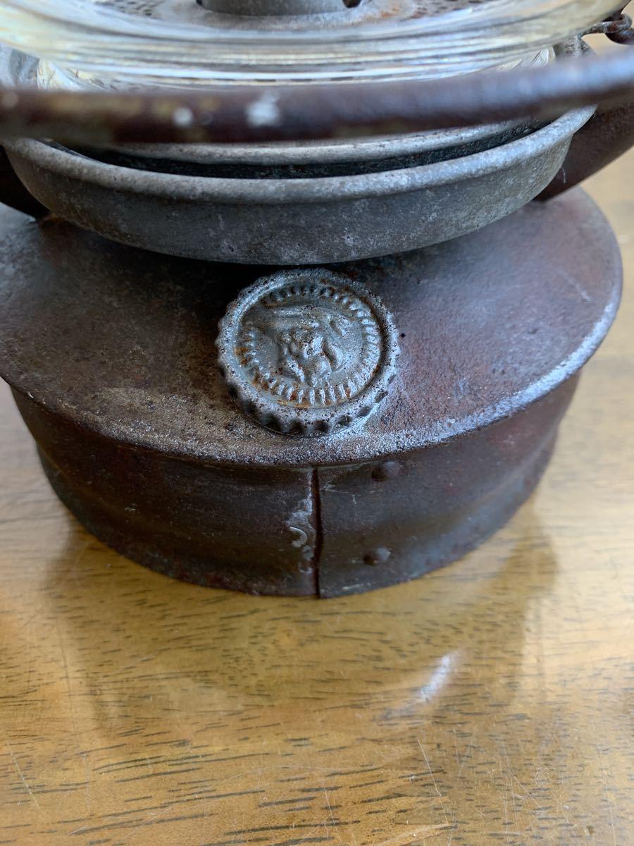 アンティーク 1920~ BAT 2849ドイツ製 実働 整備済 ビンテージ ストーム ランタン レトロ シャビー オイル ランプ ケロシン feuerhand _画像7