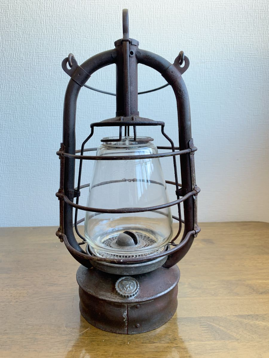 アンティーク 1920~ BAT 2849ドイツ製 実働 整備済 ビンテージ ストーム ランタン レトロ シャビー オイル ランプ ケロシン feuerhand _画像2