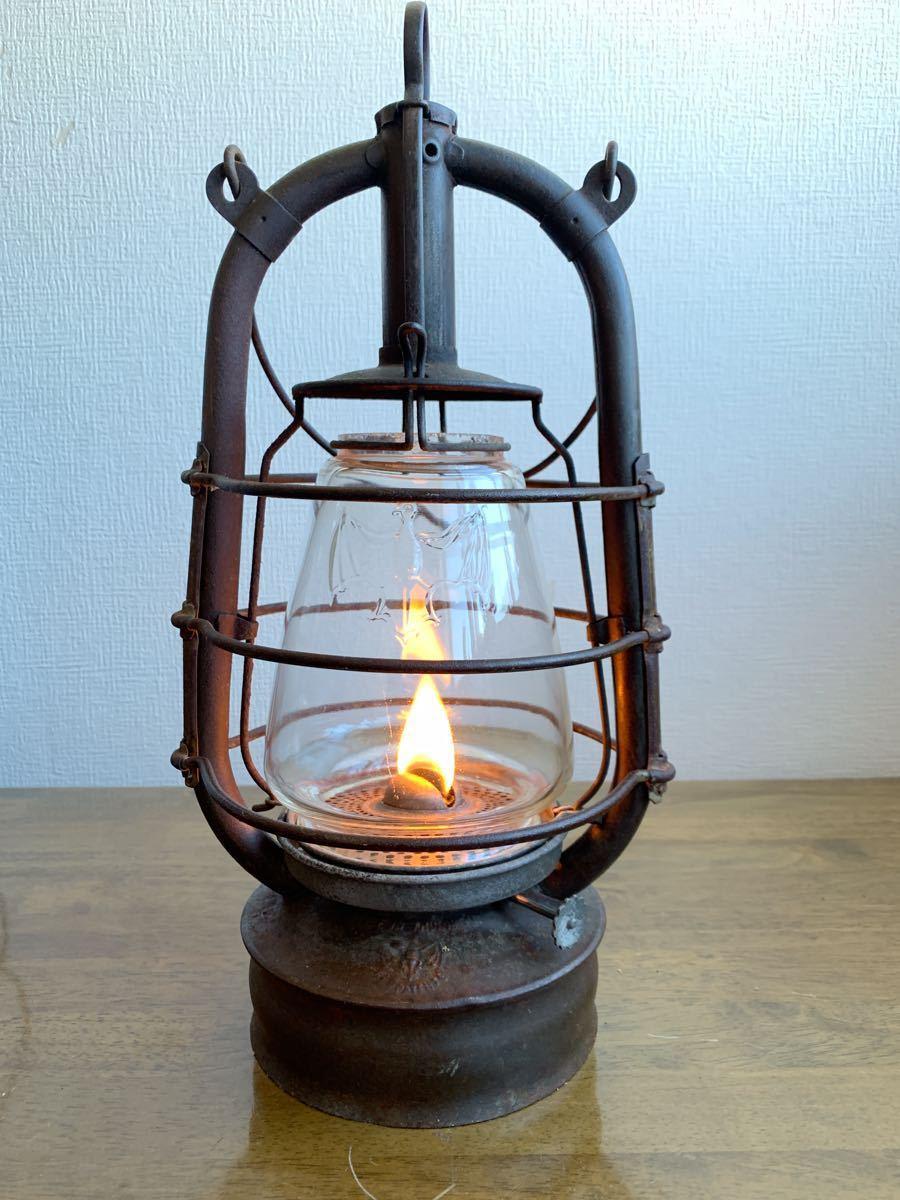 アンティーク 1920~ BAT 2849ドイツ製 実働 整備済 ビンテージ ストーム ランタン レトロ シャビー オイル ランプ ケロシン feuerhand _画像4