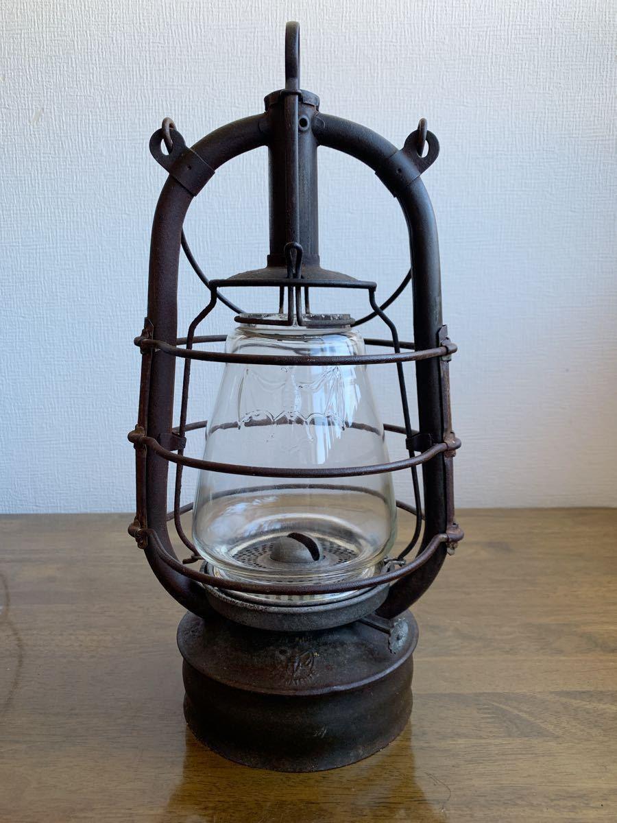 アンティーク 1920~ BAT 2849ドイツ製 実働 整備済 ビンテージ ストーム ランタン レトロ シャビー オイル ランプ ケロシン feuerhand