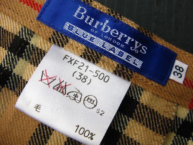 BURBERRY BLUE LABEL/バーバリーブルーレーベル☆ノバチェック総柄ダブルバックルラップ/巻きスカート/(サイズ38)状態良/クリーニング済み_画像7