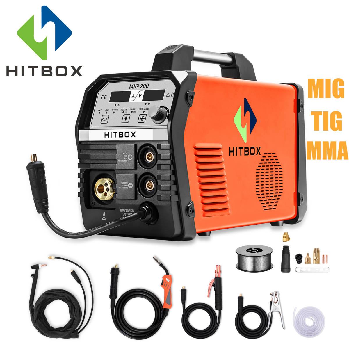 HITBOX Mig 溶接機 MIG200 機能 DC ガス MIG 4.0 ミリメートルアーク溶接機 MIG リフト TIG MMA 220V