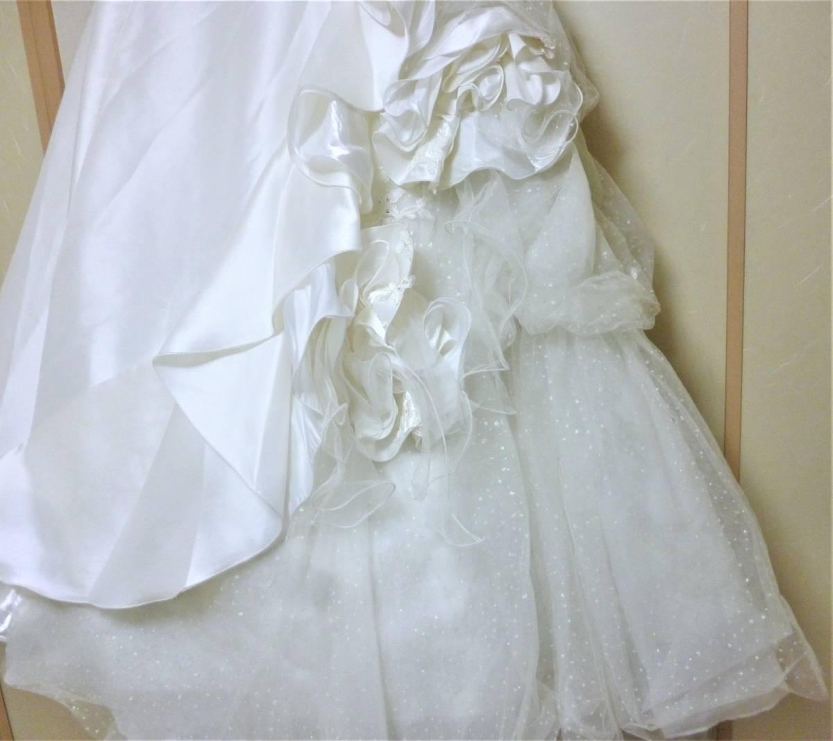 2WAYのウエディングドレス★9FT シルバー刺繍レース_画像4