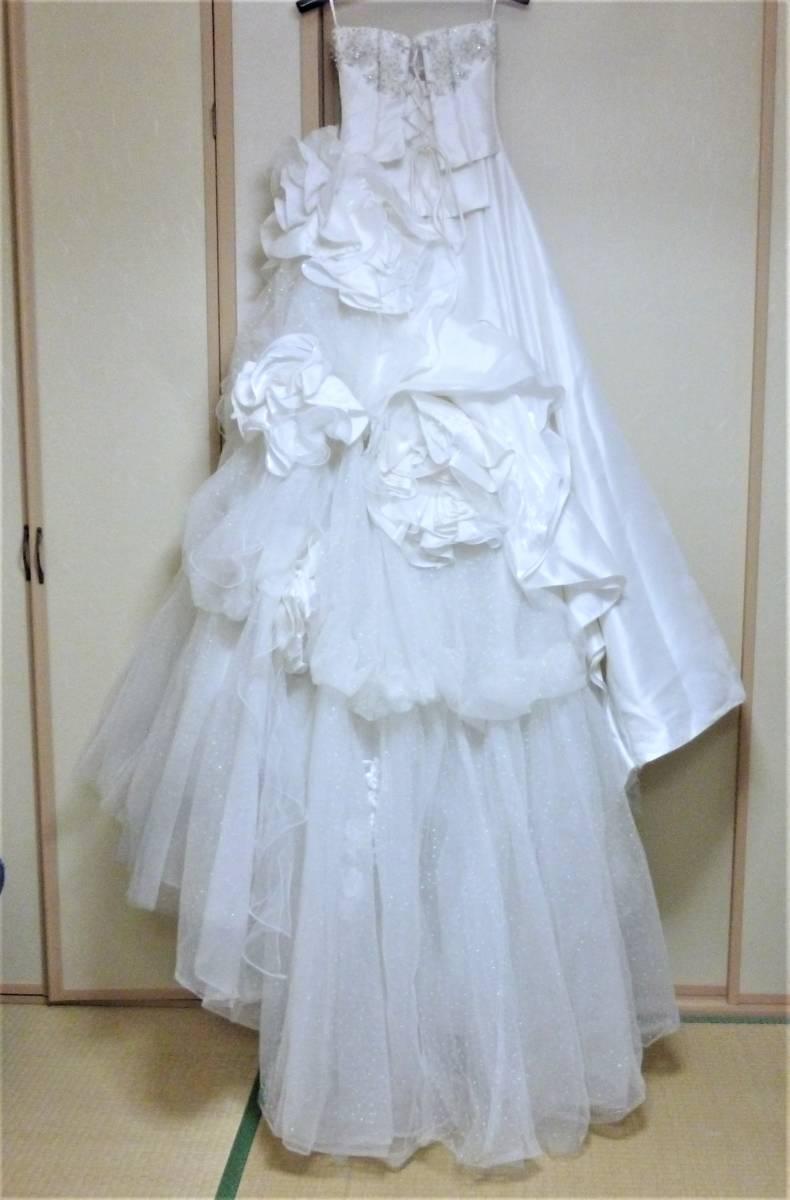 2WAYのウエディングドレス★9FT シルバー刺繍レース_画像5