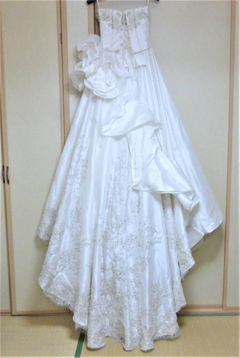 2WAYのウエディングドレス★9FT シルバー刺繍レース_画像8