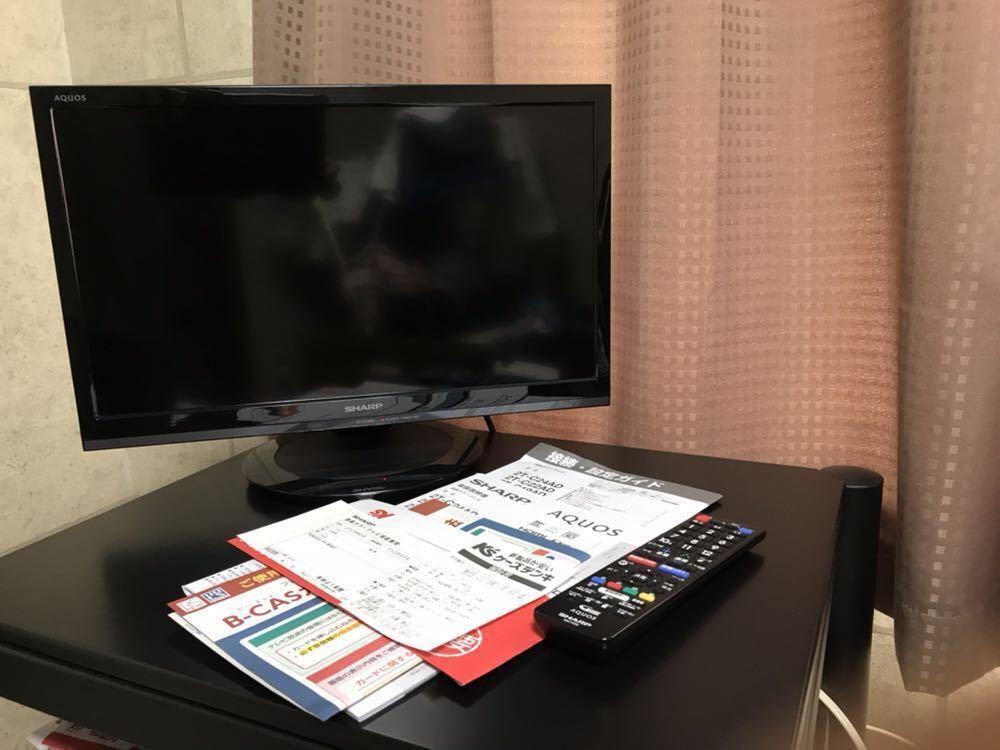 ★SHARP 2T-C19AD 2018年11月購入 AQUOS 液晶テレビ 19型 TV ブラック _画像2