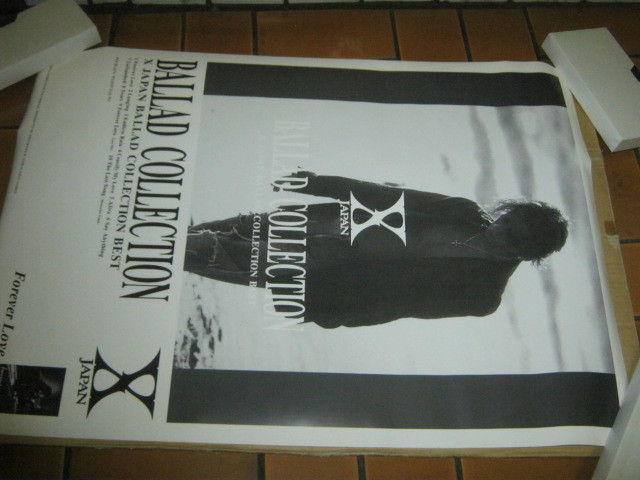 X エックス / BALLAD COLLECTION 発売告知ポスター X JAPAN YOSHIKI HIDE TOSH HEATH PATA_画像1