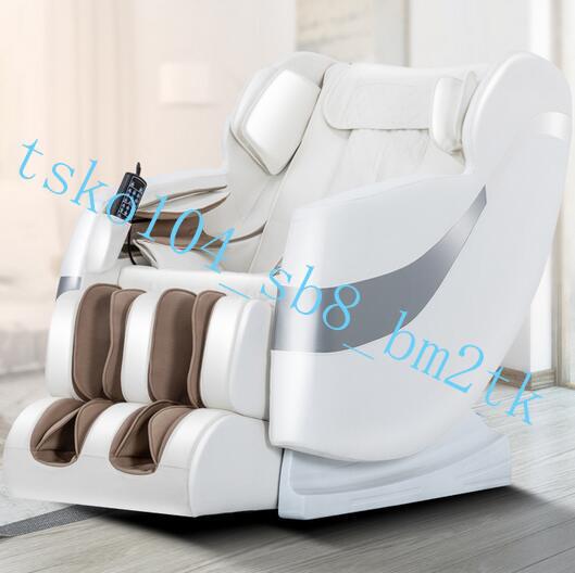 医療器 8D高級皮革電動ゼロ重力マッサージチェア マッサージ機 スピーカー内蔵 全身マッサージヒーター機能 多機能 家庭用AMY24ホワイト.