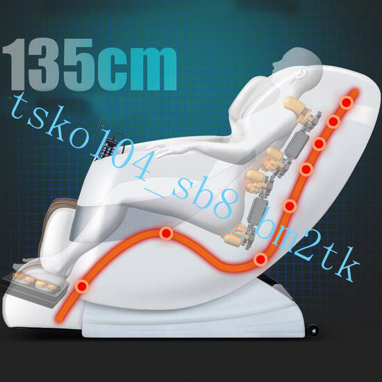 医療器 8D高級皮革電動ゼロ重力マッサージチェア マッサージ機 スピーカー内蔵 全身マッサージヒーター機能 多機能 家庭用AMY24ホワイト._画像4