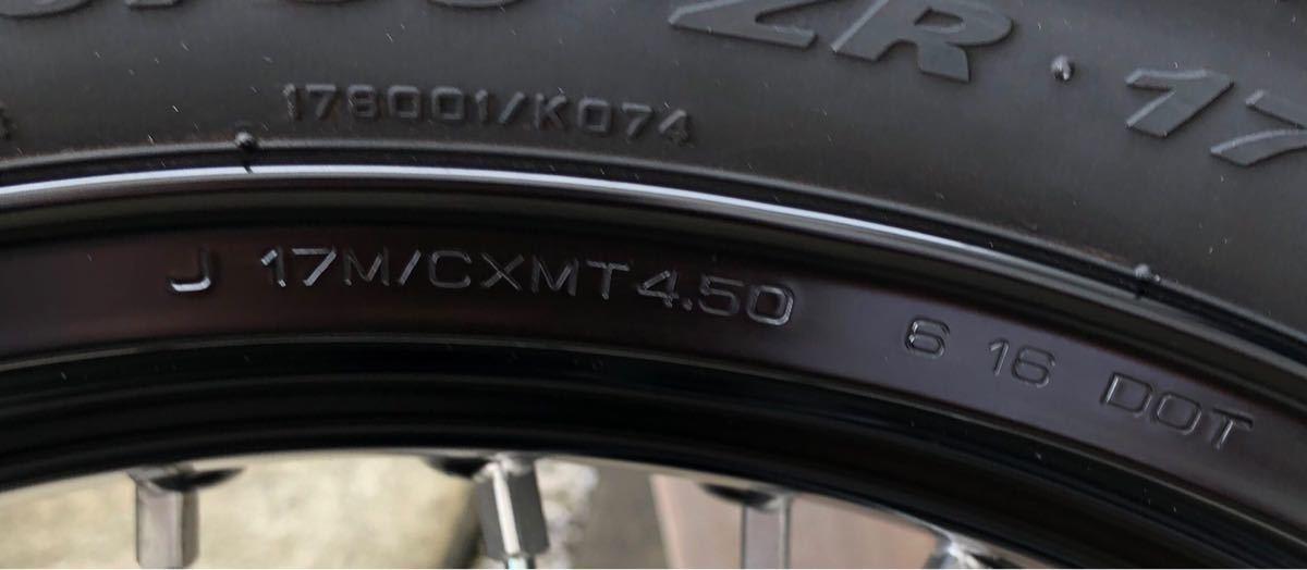 WR450F/WR250F モタードリアホイール タイヤ付き 中古 YZ450F、YZ250Fにもいかがですか_画像5