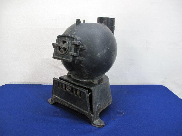 昭和レトロ 国鉄 ダルマストーブ (887) タコストーブ 鉄 鋳物 ジャンク_画像2