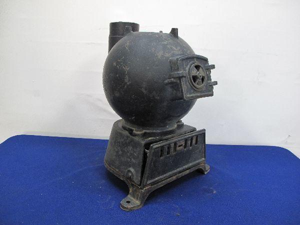 昭和レトロ 国鉄 ダルマストーブ (887) タコストーブ 鉄 鋳物 ジャンク_画像3