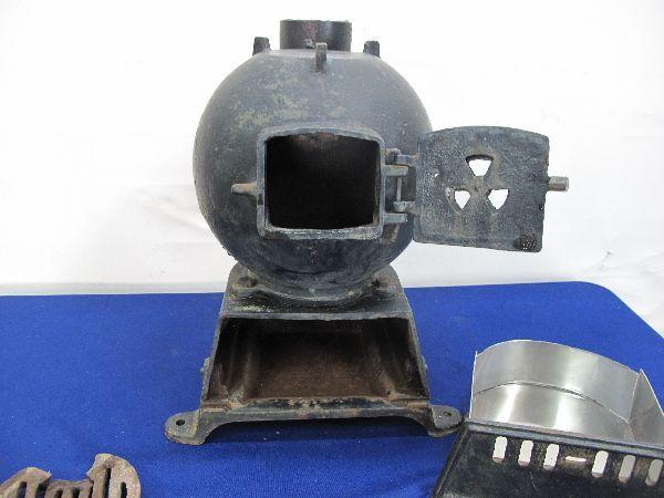 昭和レトロ 国鉄 ダルマストーブ (887) タコストーブ 鉄 鋳物 ジャンク_画像9