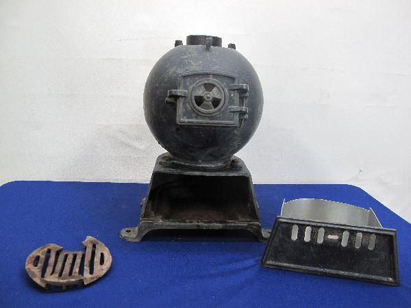 昭和レトロ 国鉄 ダルマストーブ (887) タコストーブ 鉄 鋳物 ジャンク_画像10
