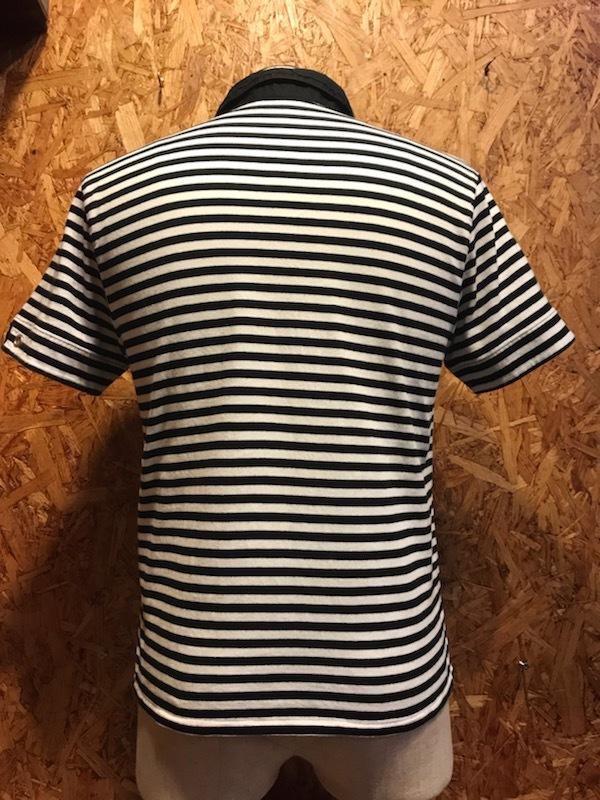 メンズシャツ MK MICHEL KLEIN HOMME ミッシェルクラン オム ポロ 半袖 ボーダー 柄 プリント FA353LPL / L レターパックライト発送可_画像3