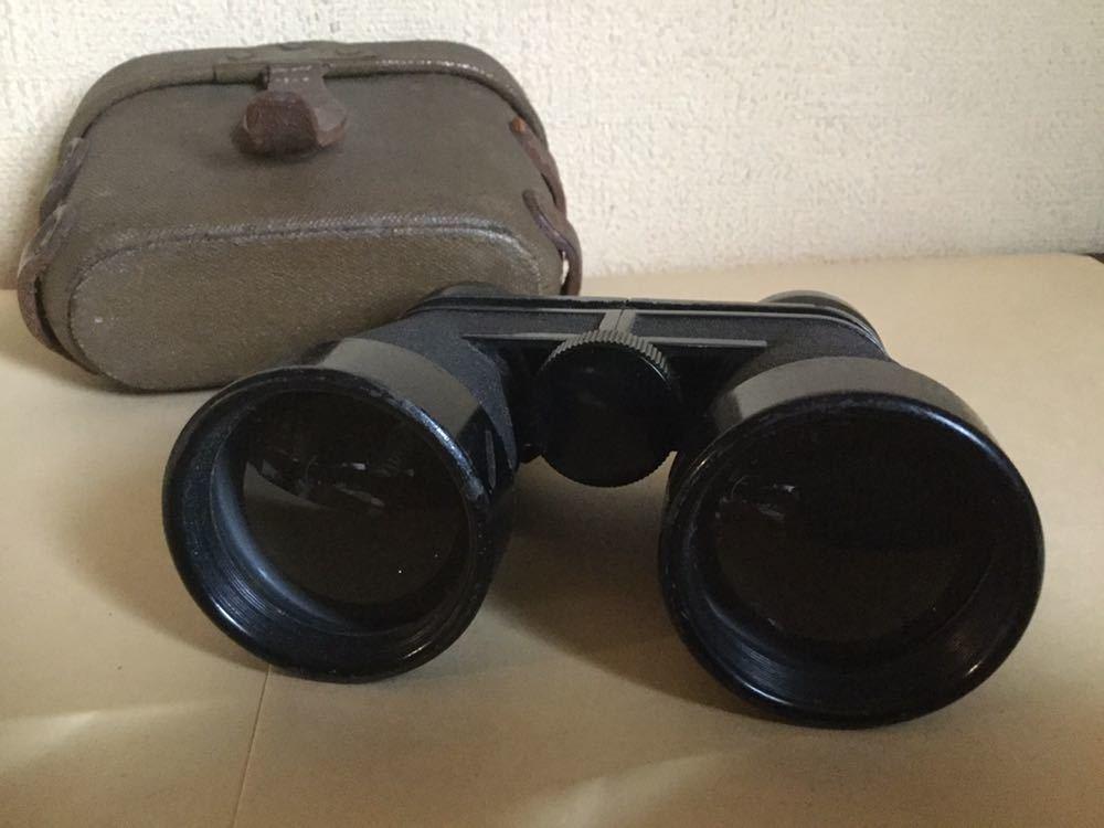 旧日本軍の配給品の双眼鏡?ケースに昭17△?マークあります。検軍服日本陸軍カメラレンズ軍刀_画像7