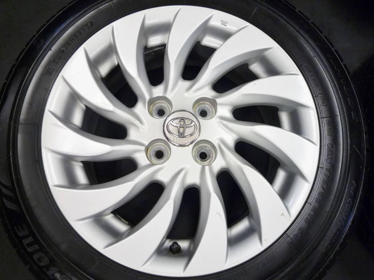 アクア、ヴィッツ、ポルテなどに♪ トヨタ bB純正 175 65 15インチ タイヤ付き 売り切り♪_画像2