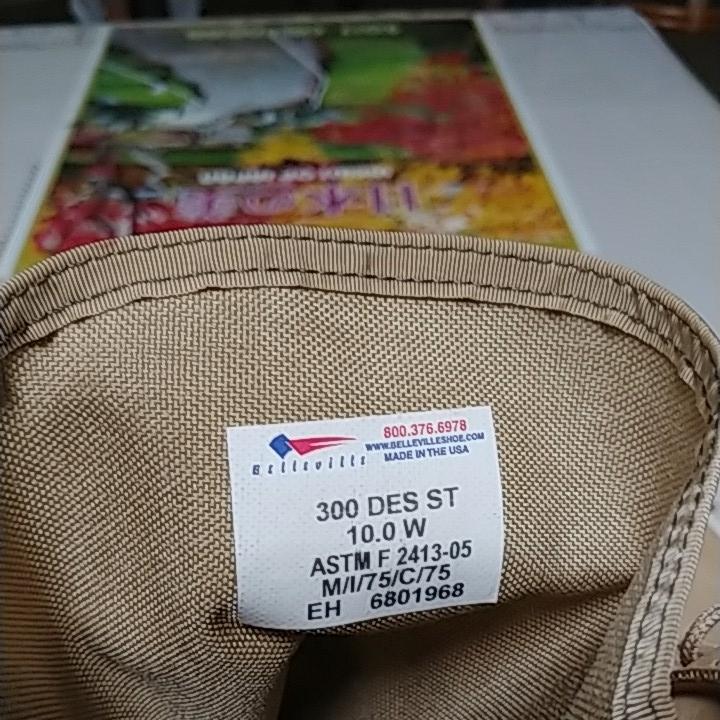 BELLVILLE 300 DES ST ベルヴィル デザートブーツ size US10W 28cm スチールトゥ ASTM F 2413-05 M/I/75/C/75_画像5