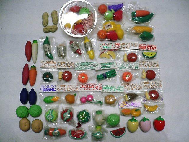 昭和レトロ / 消しゴム / 野菜けしごむ / 果物けしごむ / お弁当 / 大量 / まとめて ⇒ 50個