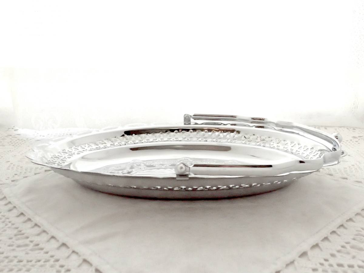 Celtic Quality Plate 英国アンティーク 純銀P シルバー ヴィクトリアン ハンドル付き デザート サンドイッチ プレート イギリス製_画像9