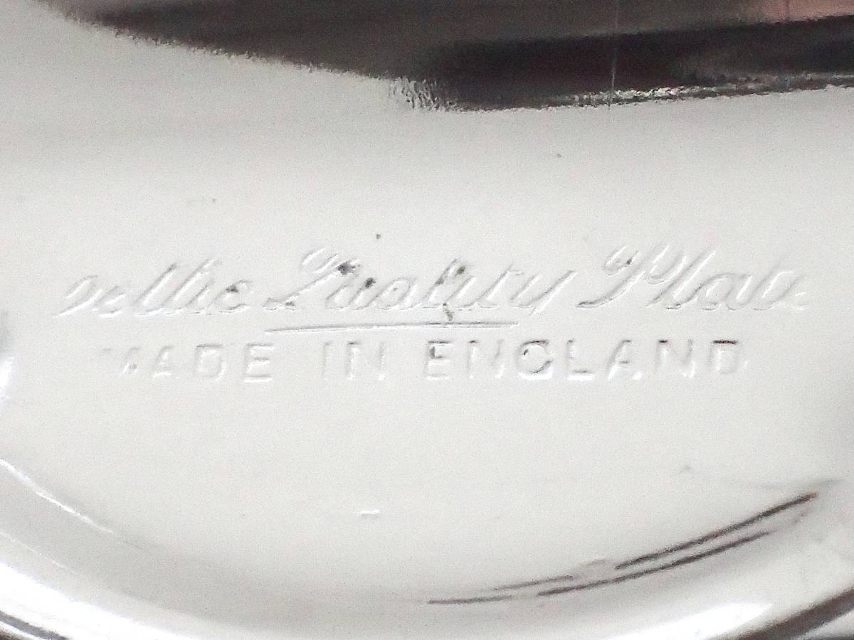 Celtic Quality Plate 英国アンティーク 純銀P シルバー ヴィクトリアン ハンドル付き デザート サンドイッチ プレート イギリス製_画像3