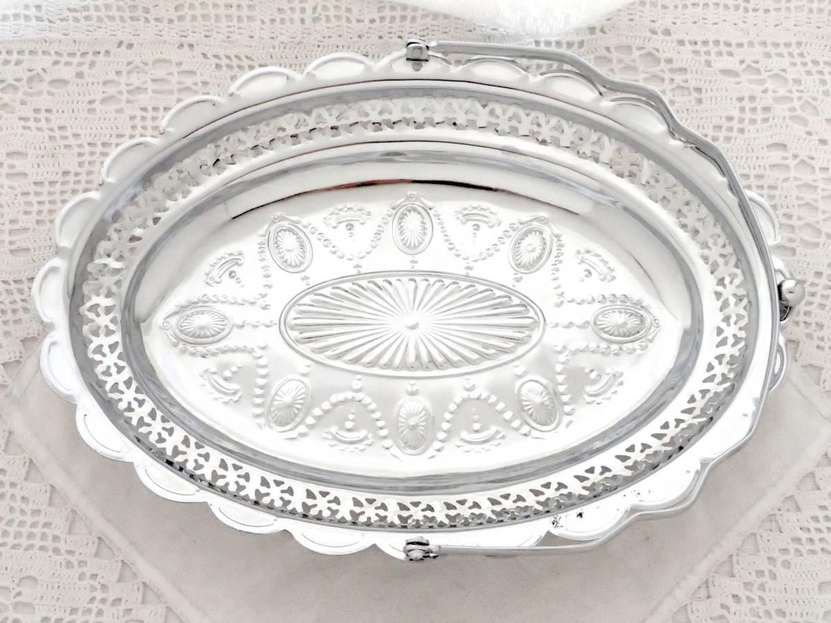 Celtic Quality Plate 英国アンティーク 純銀P シルバー ヴィクトリアン ハンドル付き デザート サンドイッチ プレート イギリス製