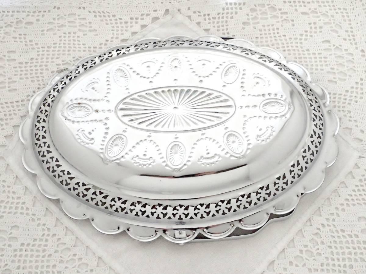 Celtic Quality Plate 英国アンティーク 純銀P シルバー ヴィクトリアン ハンドル付き デザート サンドイッチ プレート イギリス製_画像10
