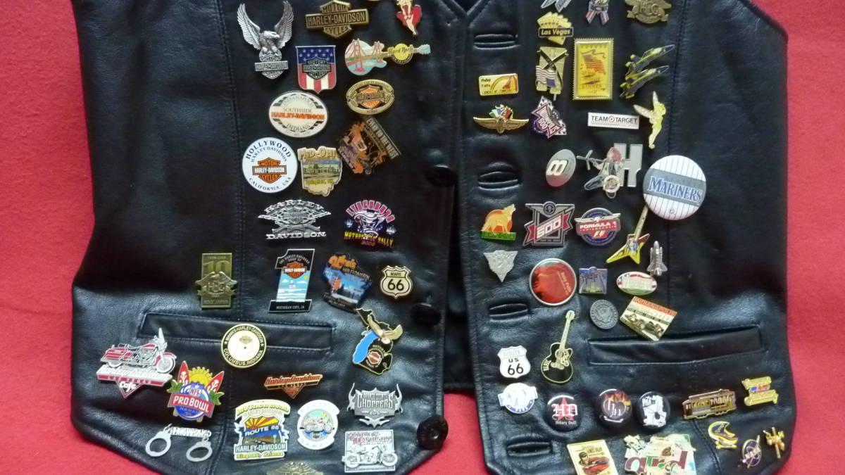 貴重 レア Harley Davidsonオリジナル アメリカ観光地 アメリカチーム 現地収集ピンバッジ 中古ベスト 管理番号A1289_画像7