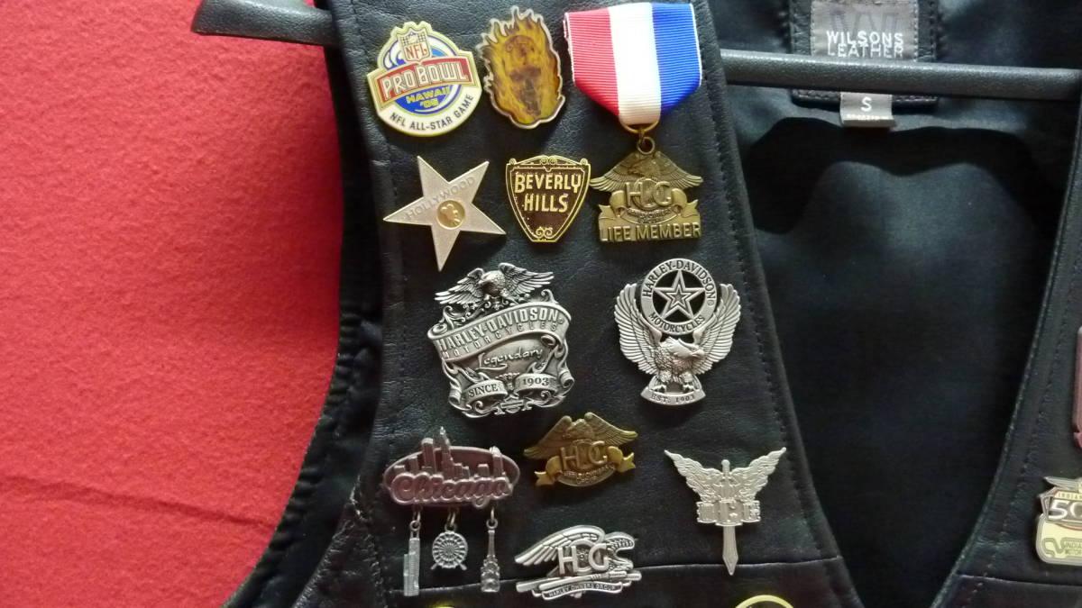 貴重 レア Harley Davidsonオリジナル アメリカ観光地 アメリカチーム 現地収集ピンバッジ 中古ベスト 管理番号A1289_画像2