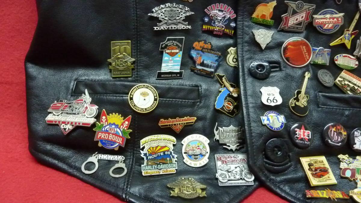 貴重 レア Harley Davidsonオリジナル アメリカ観光地 アメリカチーム 現地収集ピンバッジ 中古ベスト 管理番号A1289_画像5