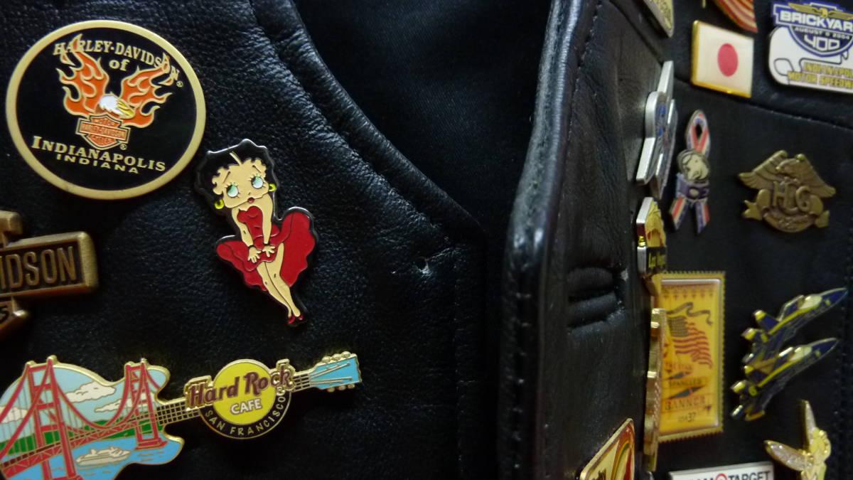 貴重 レア Harley Davidsonオリジナル アメリカ観光地 アメリカチーム 現地収集ピンバッジ 中古ベスト 管理番号A1289_画像8