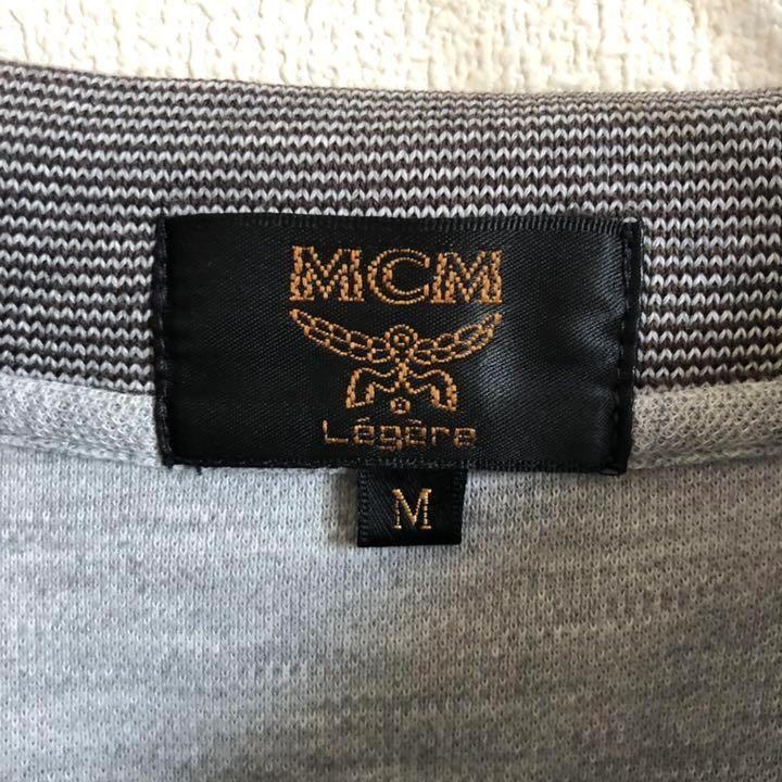 RR424【レトロ】MCM エムシーエム ワンポイント ポロシャツ_画像3