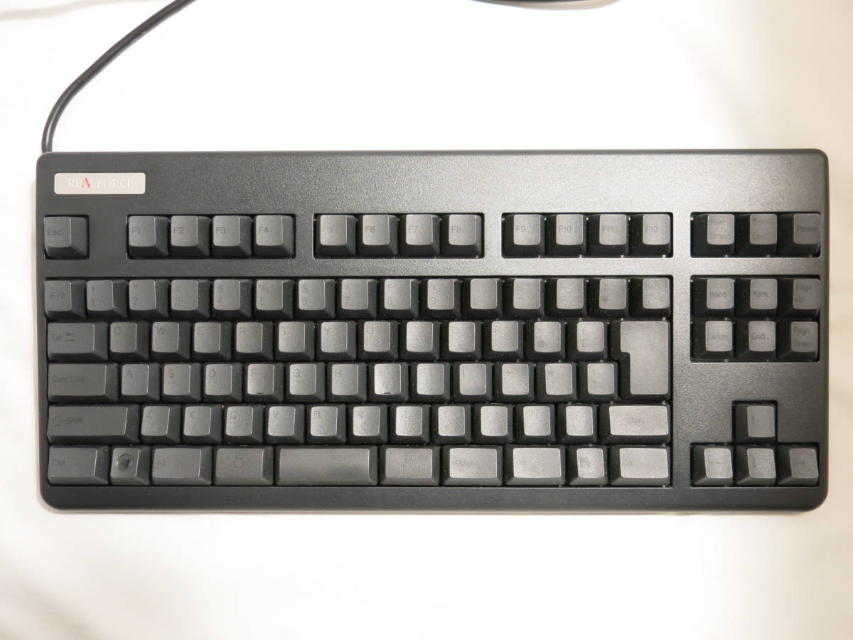 東プレ キーボード Realforce91UDK-G USB 静電容量無接点方式 DIPスイッチ機能付 ALL45g荷重 別色ASDWキー付属 ブラック NG02B0_画像3