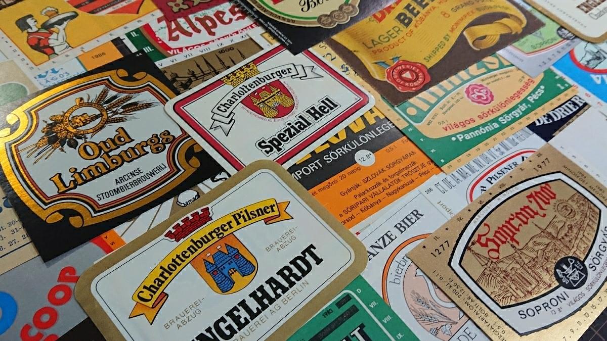 ビンテージ ビールラベル 30枚セット おまかせ アレンジ アンティーク 紙もの ジャンクジャーナル_画像4