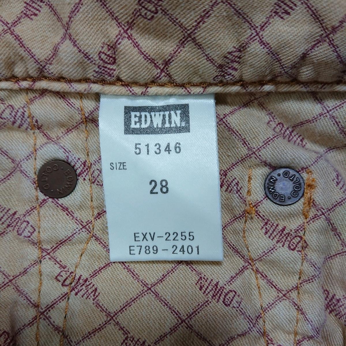 EDWIN 51346 ハーフパンツ ジーンズ デニム ジーパン エドウィン 紺 サイズ28 送料無料