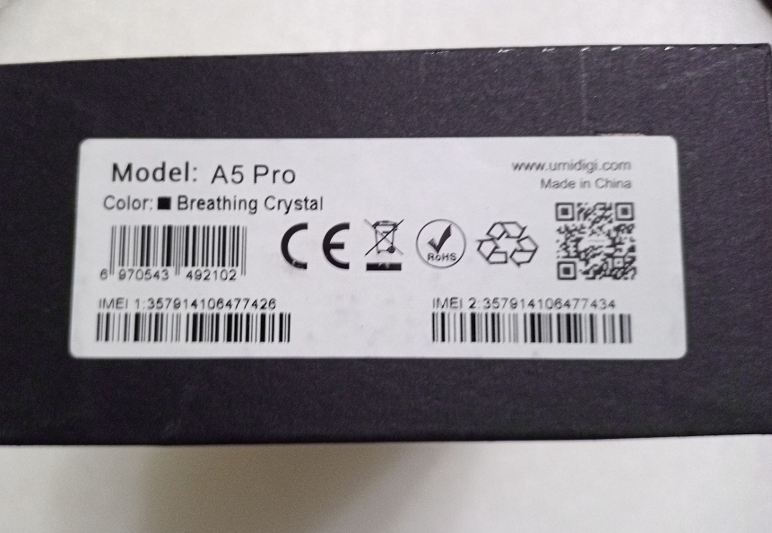 新品未開封UMIDIGI A5 Pro SIMフリースマートフォン Android 9.0 6.3インチ送料無料_画像3