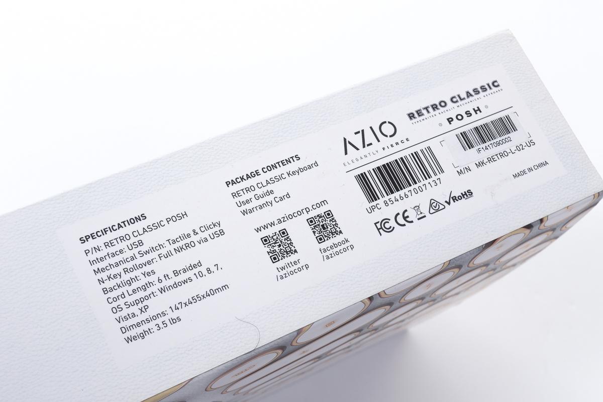 Azio Retro Classics ELEGANTLY FIERCE モデル タイプライター調_画像2