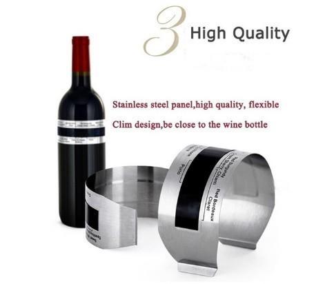 H1711 ステンレス鋼 ワインブレスレット 温度計(4-24'C) ビールホームビール用 赤ワイン温度センサー_画像10