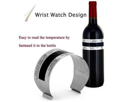 H1711 ステンレス鋼 ワインブレスレット 温度計(4-24'C) ビールホームビール用 赤ワイン温度センサー_画像8
