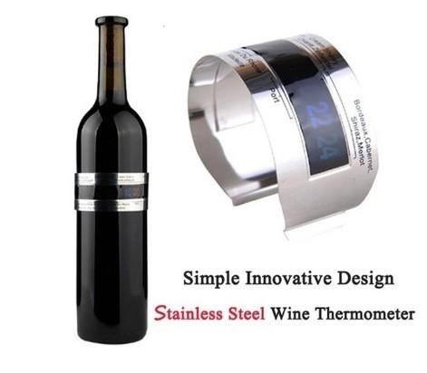 H1711 ステンレス鋼 ワインブレスレット 温度計(4-24'C) ビールホームビール用 赤ワイン温度センサー_画像6