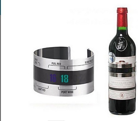 H1711 ステンレス鋼 ワインブレスレット 温度計(4-24'C) ビールホームビール用 赤ワイン温度センサー_画像2