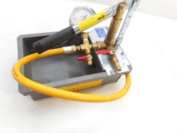 水圧テストポンプ / T-508 / キョーワ / 手動式 / 圧力計付き /カ190429_画像6