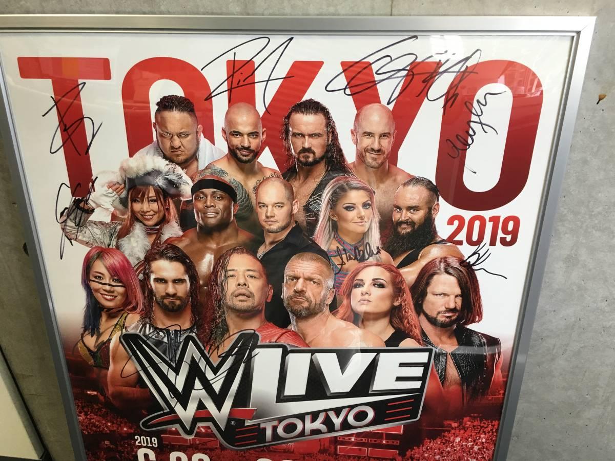 [チャリティ]【WWE公式】2019年日本公演「WWE Live Tokyo」複数サイン入りポスター_画像2