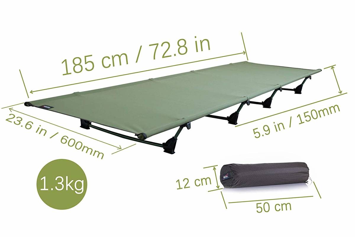 * new goods * unused * outdoor bed camp cot folding type bed camping bed light weight 1.3KG withstand load :200KG